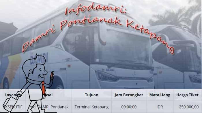 Harga Tiket Bus Damri Pontianak Ketapang