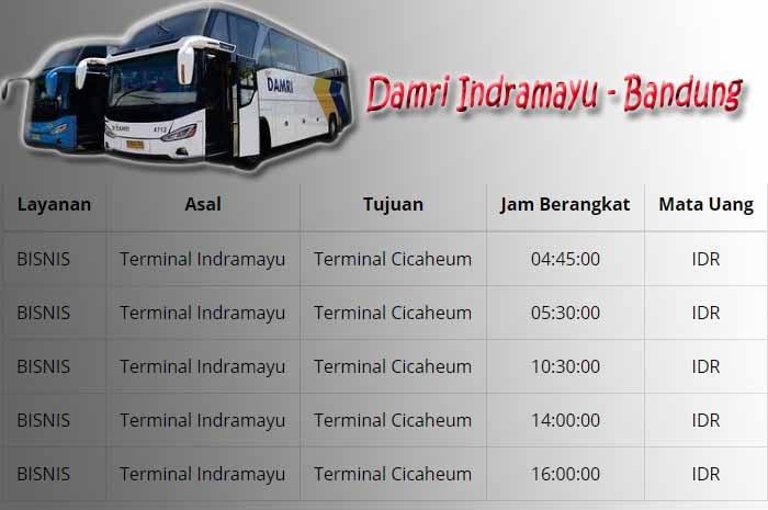 Jadwal Damri Indramayu Bandung