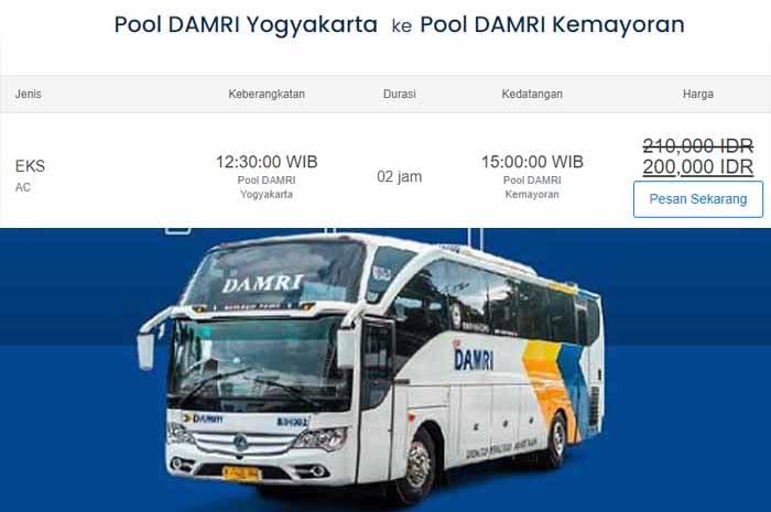 Damri Jogja Jakarta