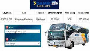 Damri Kampung Rambutan ke Lampung