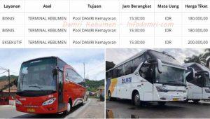 Harga Tiket Bus Damri Jakarta Kebumen