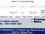Harga Tiket Damri Bekasi Lampung
