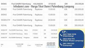 Harga Tiket Damri Palembang Lampung