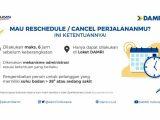 Ini Cara Pembatalan Reschedule Tiket Bus Damri