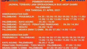 Jadwal Damri KayuAgung Palembang 2021