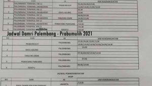 Jadwal Damri Palembang Prabumulih 2021