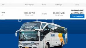 Jadwal dan Harga Tiket Damri Gambir Tanjung Karang